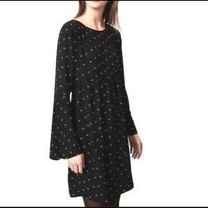 LOFT Long Sleeve Moon Print Empire Waist Dress